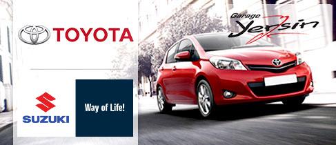 Le garage agences officielles Toyota et Suzuki